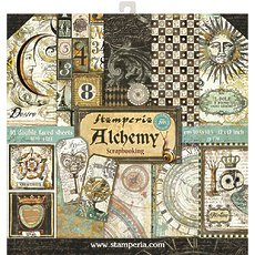 "Набор бумаги  Stamperia Alchemy Double-Sided Paper Pad 12""X12"" 10/Pkg"
