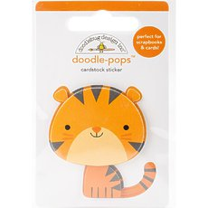 Стикер Doodlebug Doodle-Pops 3D Stickers At The Zoo Tommy Tiger