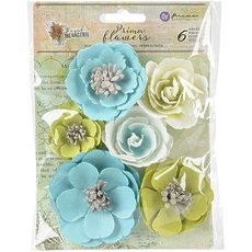 Набор бумажных цветов Prima Marketing Royal Menagerie Mulberry Paper Flowers