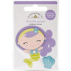 Стикер Doodlebug Doodle-Pops 3D Stickers Mini Mermaid