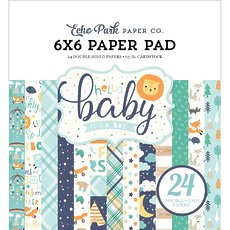 "Набор бумаги Hello Baby Boy Echo Park Double-Sided Paper Pad 6""X6"" 24/Pkg"