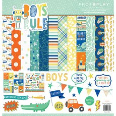 "Кит-набор PhotoPlay Boys Rule Collection Pack 12""X12"""