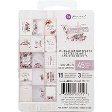 "Набор карточек для журналинга Lavender Journaling Cards Pad 3""X4"" 45/Pkg Prima Marketing"