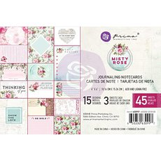 "Набор карточек для журналинга Misty Rose Journaling Cards 4""X6"" 45/Pkg от Prima Marketing"