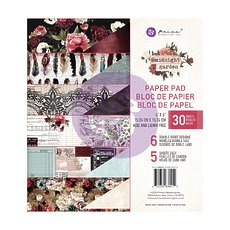 "Набор бумаги Midnight Garden Prima Marketing Double-Sided Paper Pad 6""X6"" 30/Pkg"