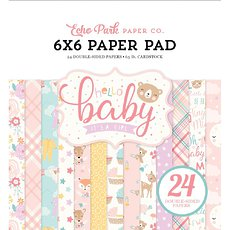 "Набор двусторонней бумаги Hello Baby Girl Echo Park Double-Sided Paper Pad 6""X6"" 24/Pkg"
