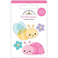Стикер Doodlebug Doodle-Pops 3D Stickers Bloomin' Bugs