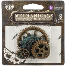 Набор металлических украшений Machine Parts 9/Pkg Finnabair Mechanicals Metal Embellishments от Prima Marketing