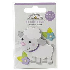 Стикер Doodlebug Doodle-Pops 3D Stickers Lamby