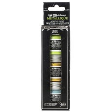 Набор акриловых красок Metallique Postale Finnabair Art Alchemy Acrylic Paint Set 3/Pkg.