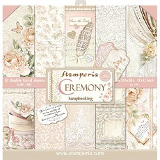"Набор бумаги Ceremony Stamperia Double-Sided Paper Pad 12""X12"" 10/Pkg"