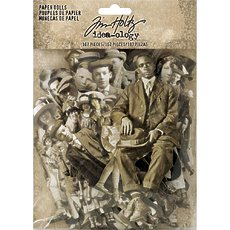 "Набор высечек Tim Holtz - Advantus Vintage Black & White .75"" To 5.5"" Idea-Ology Paper Dolls Die-Cuts 107/Pkg"