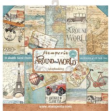 "Набор бумаги Stamperia Around The World Double-Sided Paper Pad 12""X12"" 10/Pkg"