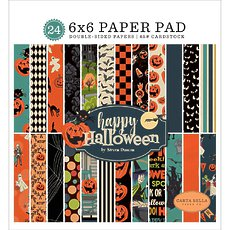 "Набор бумаги Happy Halloween Carta Bella Double-Sided Paper Pad 6""X6"" 24/Pkg"