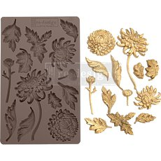 "Силиконовый молд Botanist Floral Prima Marketing Re-Design Mould 5""X8""X8mm"