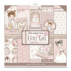 "Набор бумаги Little Girl Stamperia Double-Sided Paper Pad 12""X12"" 10/Pkg"