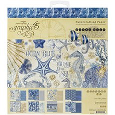 "Набор бумаги Ocean Blue Graphic 45 Double-Sided Paper Pad 8""X8"" 24/Pkg"