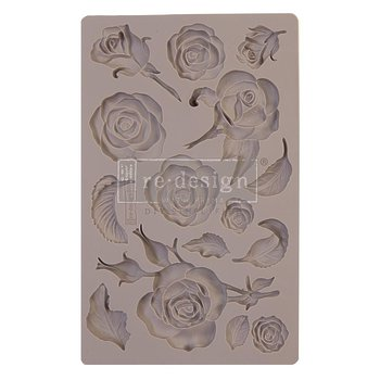 "Силиконовый молд Fragrant Roses Prima Marketing Re-Design Mould 5""X8""X8mm"