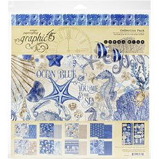 "Набор бумаги Ocean Blue Graphic 45 Collection Pack 12""X12"""