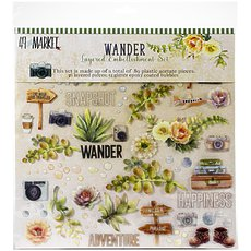 "Набор Wander Layered Embellishments 12""X12"" 89/Pkg от 49 And Market"
