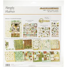 "Большой кит-набор Simple Vintage Great Escape Simple Stories Collector's Essential Kit 12""X12"""