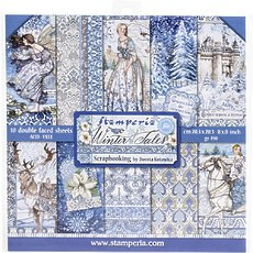 """Набор бумаги Winter Tales Stamperia Double-Sided Paper Pad 8""""X8"""" 10/Pkg"""