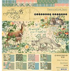 "Набор бумаги Woodland Friends Graphic 45 Double-Sided Paper Pad 8""X8"" 24/Pkg"