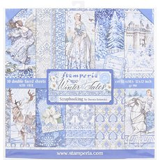 "Набор бумаги Winter Tales Stamperia Double-Sided Paper Pad 12""X12"" 10/Pkg"