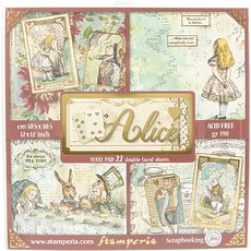 "Набор бумаги Alice Stamperia Single-Sided Paper Pad 12""X12"" 22/Pkg"