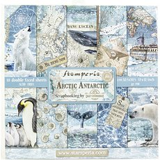 "Набор бумаги Arctic Antarctic Stamperia Double-Sided Paper Pad 12""X12"" 10/Pkg"