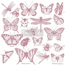 "Набор силиконовых штампов Monarch Collection Prima Marketing Re-Design Decor Clear Cling Stamps 12""X12"""