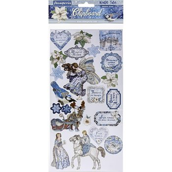 "Набор чипборда Winter Tales Stamperia Adhesive Chipboard 6""X12"""