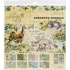 "Набор бумаги Woodland Friends Graphic 45 Collection Pack 12""X12"""