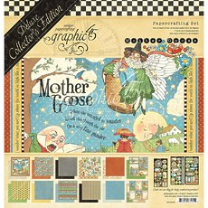 "Набор бумаги Mother Goose Graphic 45 Deluxe Collector's Edition Pack 12""X12"""