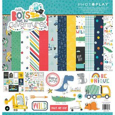 """Кит-набор Little Boys Have Big Adventures PhotoPlay Collection Pack 12""""X12"""""""