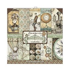 """Набор бумаги  Voyages Fantastiques Stamperia Double-Sided Paper Pad 8""""X8"""" 10/Pkg"""