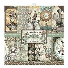 "Набор бумаги  Stamperia Voyages Fantastiques Double-Sided Paper Pad 12""X12"" 10/Pkg"