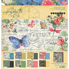 """Набор бумаги  Flutter Graphic 45 Collection Pack 12""""X12"""""""