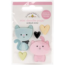 Стикер Doodlebug Doodle-Pops 3D Stickers Bitty Kitties