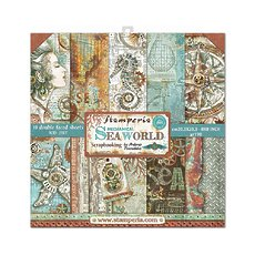 "Набор бумаги Stamperia Sea World Double-Sided Paper Pad 12""X12"" 10/Pkg"