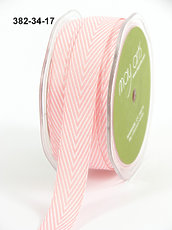 Лента Pink May Arts Twill Chevron Stripe Ribbon 3/4""