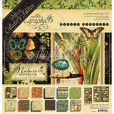 Набор бумаги Natures Notebook Graphic 45 Deluxe Collector's Edition Pack 12*12