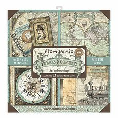 "Набор бумаги Stamperia Voyages Fantastiques Double-Sided Paper Pad 12""X12"" 22/Pkg"