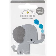 Стикер Doodlebug Doodle-Pops 3D Stickers At The Zoo Eddie Elephant