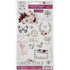Набор чипборда Pretty Mosaic Chipboard Stickers 45/Pkg.