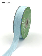 Лента Light Blue May Arts Twill Chevron Stripe Ribbon 3/4""